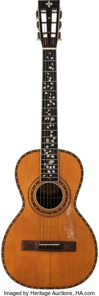 Musical Instruments:Acoustic Guitars, 1900 Washburn Parlor Natural Acoustic Guitar, Serial # 174...