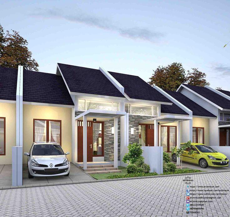 Desain Perumahan Minimalis Perumahan Graha Purwosari Regency - Type 45 3D View