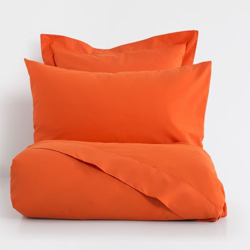 Image of the product Tan orange basic percale bed linen