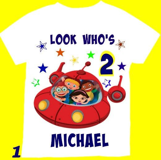 Little Einsteins Birthday boy  Shirt, Personalized with child name and age.