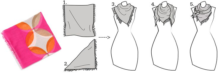 The Square Scarf Unraveled: An Easy Five Step Guide