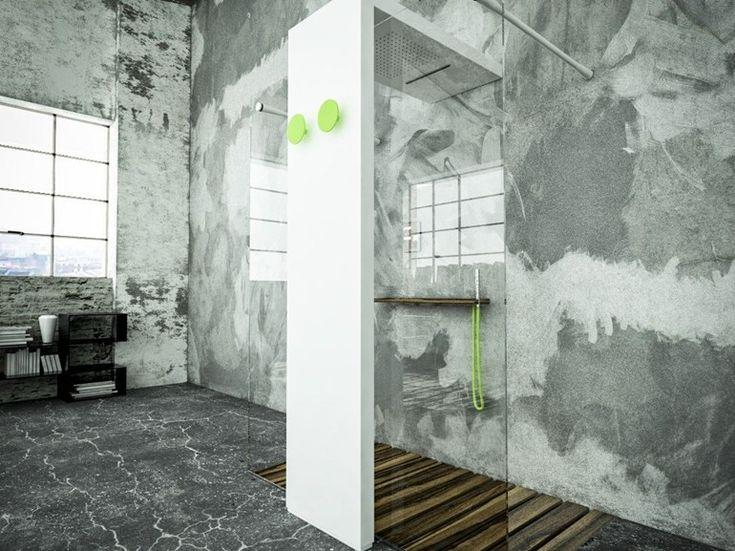 Termoarredo con soffione doccia integrato MONOLITE LIGHT Collezione Monolite by BRANDONI | design Fabrizio Batoni