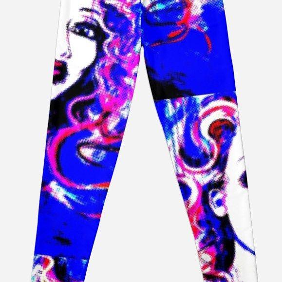 Leggings using my artwork! #artclothing #clothingdesigner