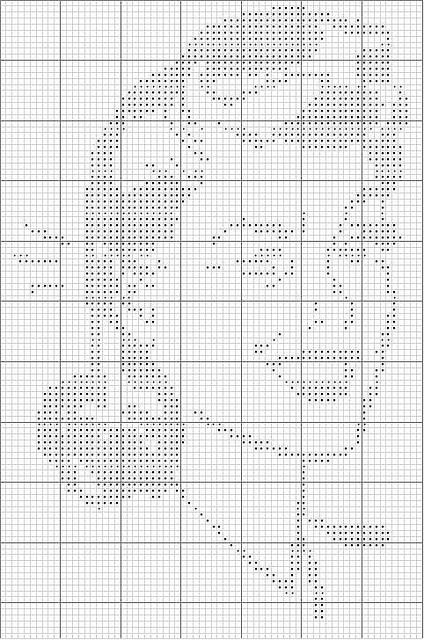 Retro wink cross stitch - it would be so cool to do this in paint on a wall.