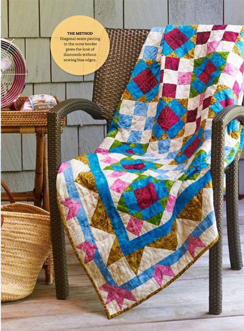 Jewel Box by Linda Hahn featuring fabrics from Ashford by Jinny Beyer as seen in Quilt Magazine October 2013.
