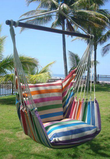 Kleurige Lazy  Rezt hangstoel