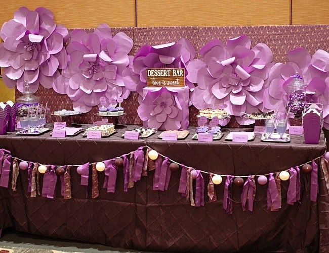 Purple Dessert Table {guest feature} - Celebrations at Home