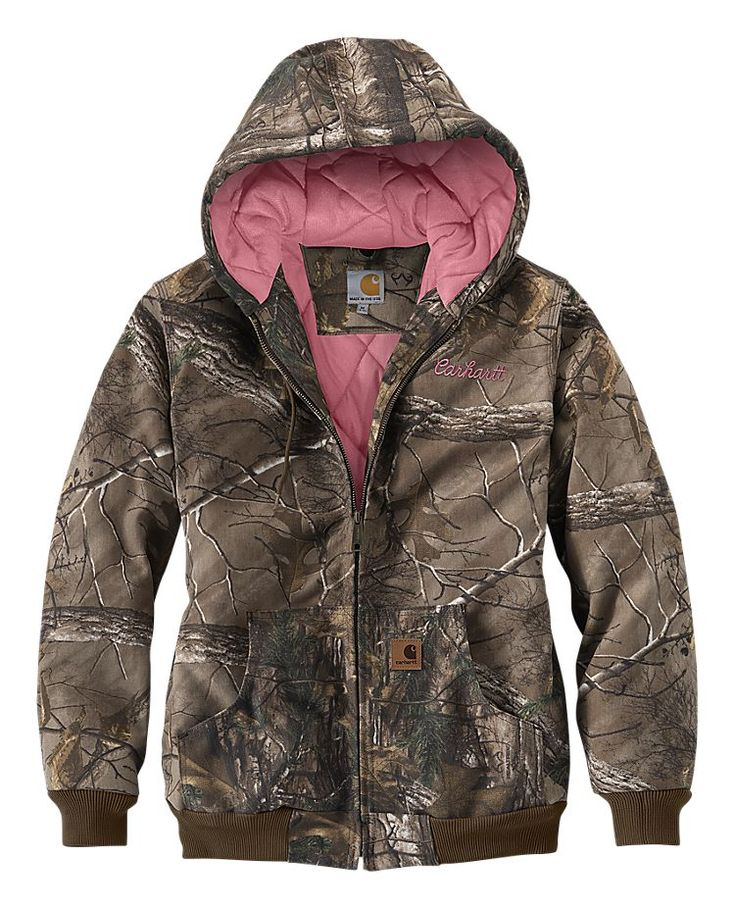 Carhartt Camo Active Jac for Ladies | Bass Pro Shops. Bet this would be really warm in the woods!
