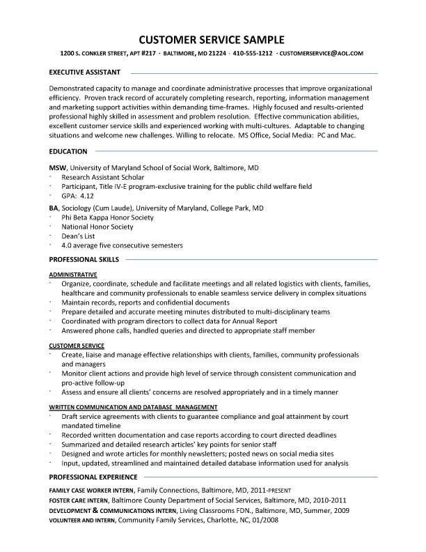 customer service resume 7