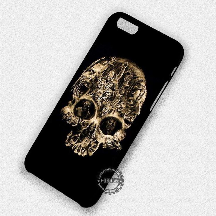 Skull Head Zombie The Walking Dead - iPhone 7 6 5 SE Cases & Covers