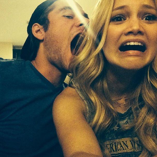 Photo: Jordan Fisher Had Fun With Luke Benward And Olivia Holt April 5, 2014