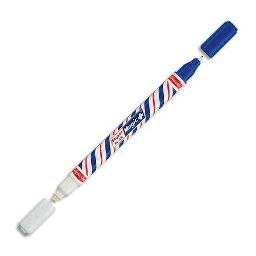 Effaceur Magic: l'outil incontournable de tous les élèves. On écrit avec le côté bleu et on efface avec le côté blanc. Ou l'inverse ?