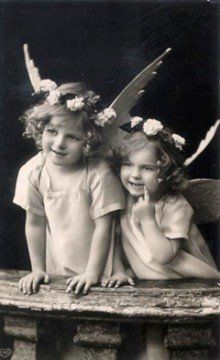 vintage angels: Sisters Angel, Victorian Angel, Angel Cooking, Angel Wings, Vintage Angel, Vintage Photos, Angel Children, Ang Vintage, Angel Image