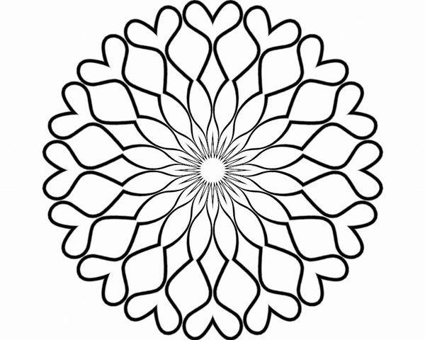 Blank mandala for coloring.Mandala. Mandala para pintar