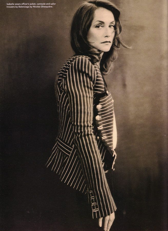 ...Isabelle Huppert photographed by Paolo Roversi - i-D Magazine: April 2005