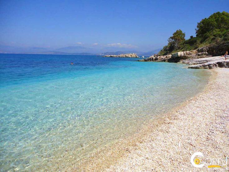 Batarias beach near village of Kassiopi on the Greek Island of Corfu