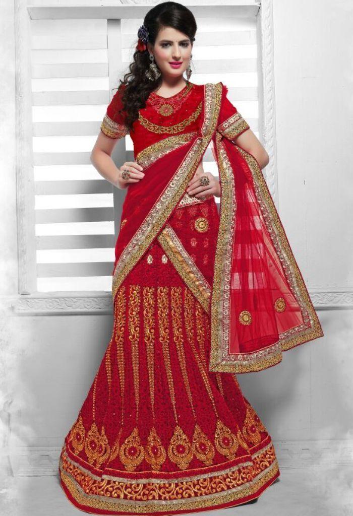 Red Designer Lehenga Choli With Embroidery Work..@ fashionsbyindia.com #designs #indian #fashion #womens #style #cloths #fashion #stylish #casual #fashionsbyindia #punjabi #suits #saree #wedding #lehenga #choli