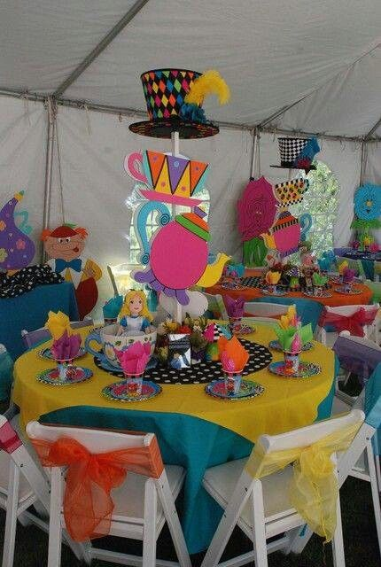 Alice In Wonderland Decor Party Ideas Pinterest