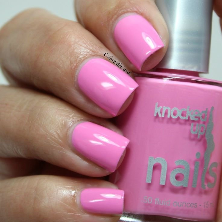 Pregnancy safe nail polish for mom-to-be - Knocked Up Nails - manicure with preggers in pink