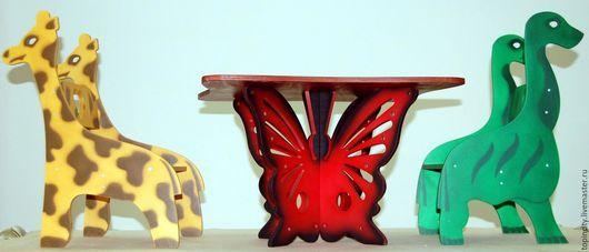 Детская ручной работы. Ярмарка Мастеров - ручная работа. Купить Детские стулья - животные. Handmade. Детский стульчик, водная морилка