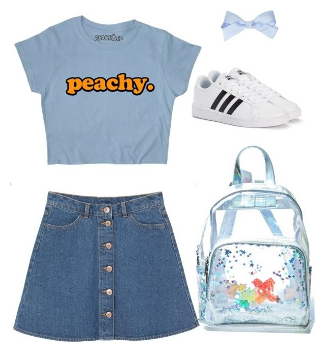 Early 2000's me tbh : Nymphette by wafflez-cry-syrup on Polyvore featuring polyvore fashion style Monki adidas Current Mood clothing