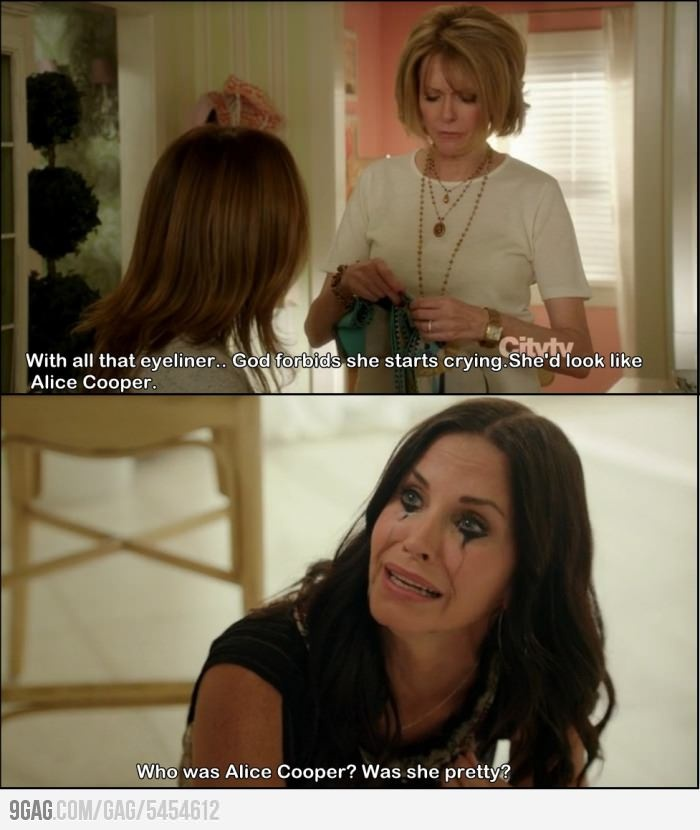 """Cougar Town. """"oh my god! i'm coopering!"""""""