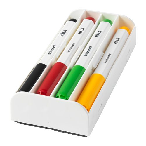 MÅLA Whiteboard pen, assorted colors assorted colors -