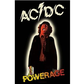 Official AC/DC fabric poster flag featuring In Powerage design.