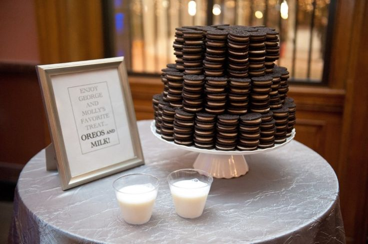 Have the bride and groom for a favourite biccie? Give it a special role in the wedding by replacing the cake with a stack of biscuits! (source) HOW TO HAVE A LOVELY WEDDING ON A *TIGHT* BUDGET  -Cosmopolitan.co.uk