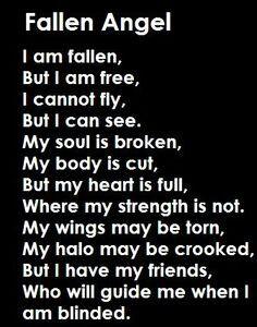 ce est ma citation préférée , car il parler anges déchus et il enseigne encore une leçon que même si vous faites des erreurs vos amis seront toujours à vos côtés