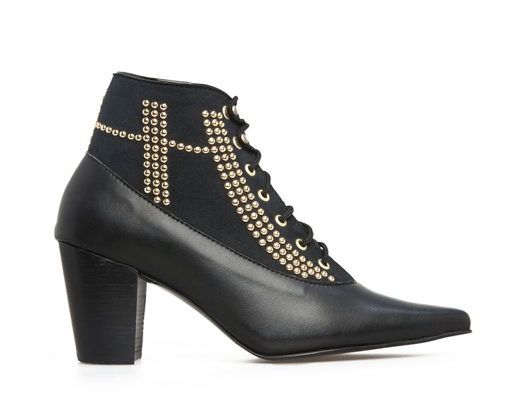 Wynonna Studded Ankle Boot - Black