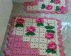 Jogo de Banheiro Crochê - Rosa