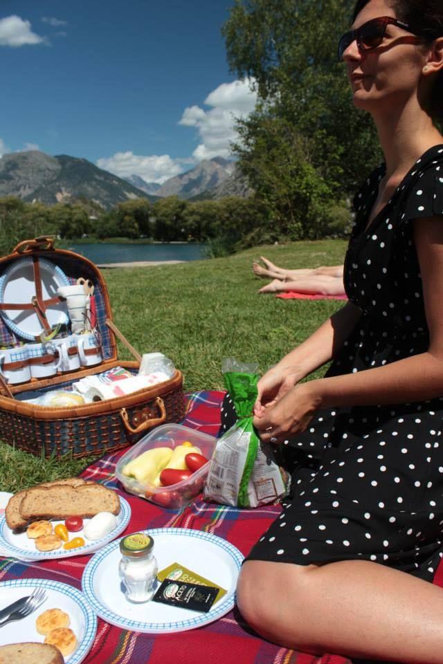 THE picninc on the way to Sisteron, Provence from Lake Garda, Italy