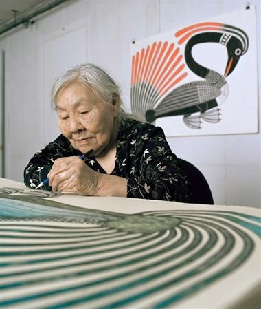 Kenojuak Ashevak, renowned Inuit artist believed to be the last living link to the birth of Inuit printmaking, died Tuesday January 8, 2013 at her home in Cape Dorset, Nunavut, at the age of 85. Her work gained worldwide recognition as iconic of the Canadian Arctic