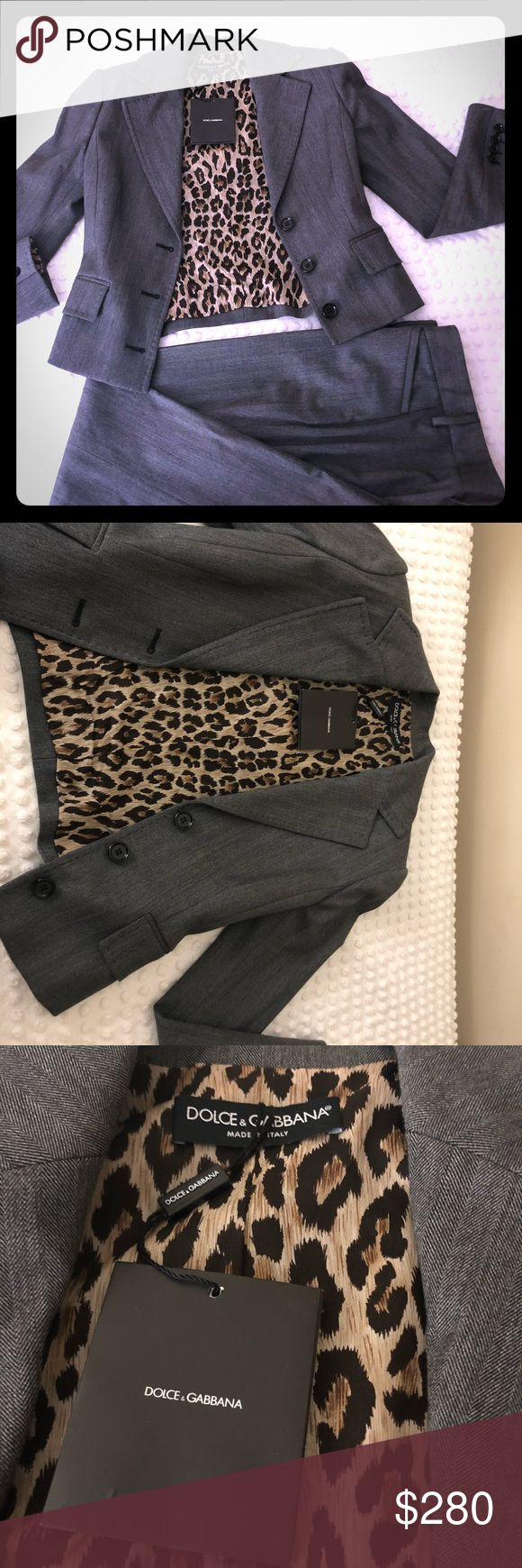 Dolce gabana suit Dolce gabana 3 pieces suit blazer, pants and skirt . Perfect conditions. Gray color size 38 Dolce & Gabbana Jackets & Coats Blazers