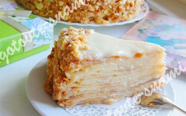 Торт пломбир с зеркальной белой глазурью
