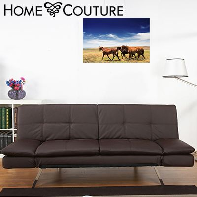 Home Couture 5 Position Sofa Bed w Arms: Chocolate | Buy Sofa & Arm Chairs Online - oo.com.au