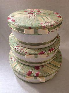 Caixas redonda com tecido