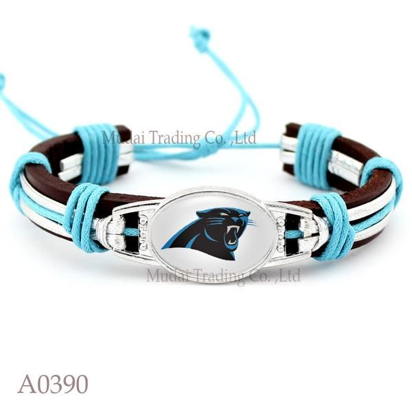 Please Share This Offer Carolina Panthers Leather Cuff Bracelet This…