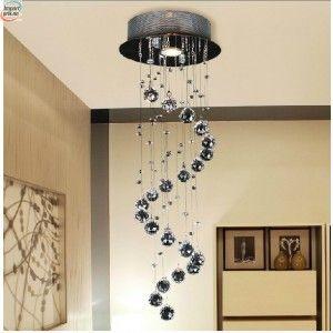 Krystall taklampe i moderne design - (3037MERS)