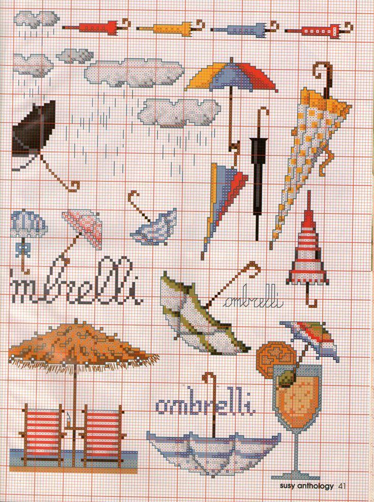 0 point de croix collection de parapluies - cross stitch collection of umbrellas part 2
