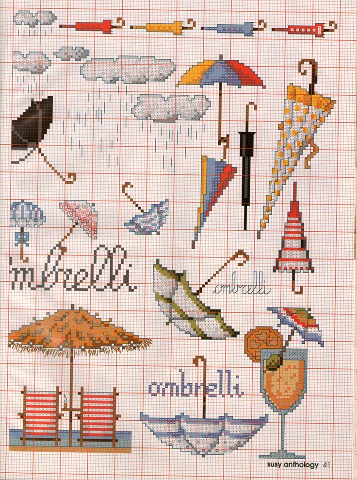 0 point de croix collection de parapluies - cross stitch collection of umbrellas part 2