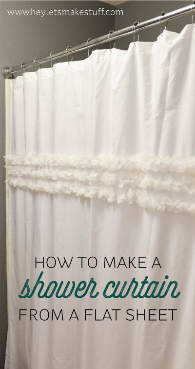 How to make a custom shower curtain using an old shower curtain as a template -- then embellish as desired!