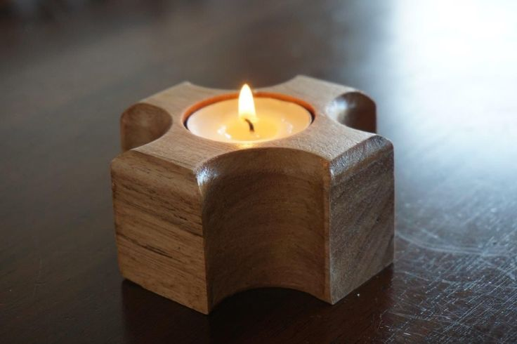 Handcrafted wooden candle holder set of 2 Handmade unique wooden ...