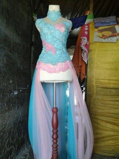 Biru aqua +dasty pink