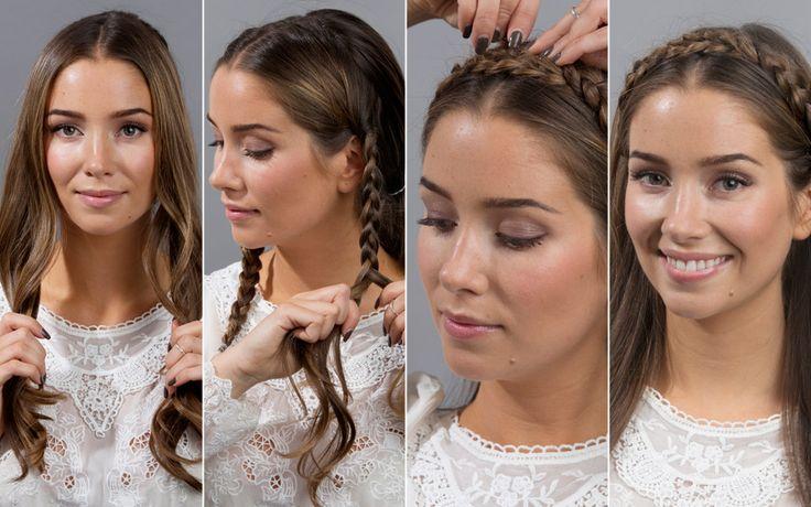 FESTFINT HÅR: Å pynte håret til fest trenger ikke å være komplisert eller krevende. Blogger Emilie Tømmerberg viser deg tre enkle frisyrer s...