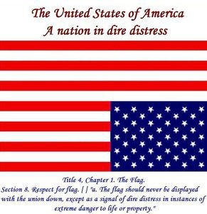 USA Upside Down Flag A Nation in Distress