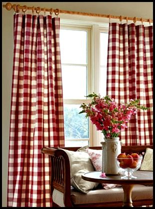 17 Best Ideas About Red And White Curtains On Pinterest