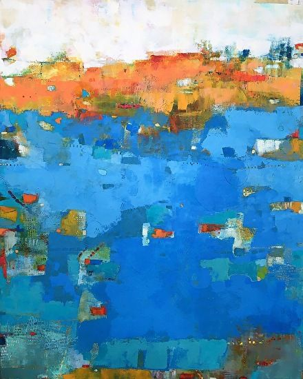 Frisson by Sue Jachimiec Oil and Wax ~ 60 x 48