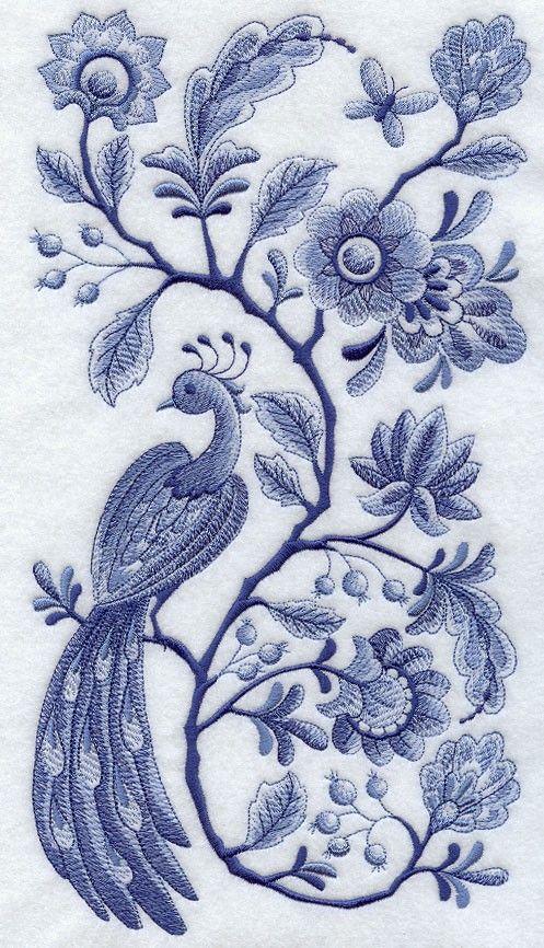 ~Delfts blauw borduur~